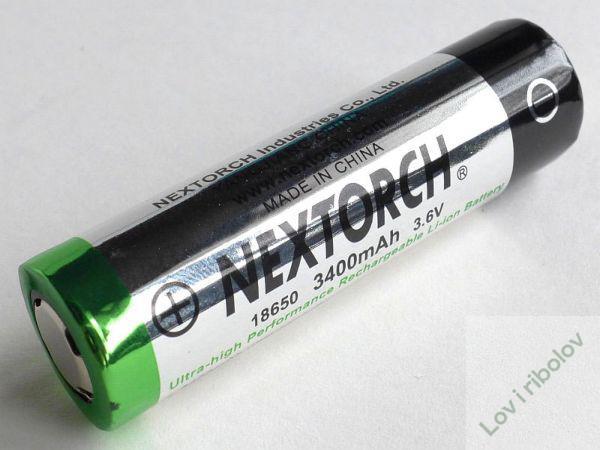 Baterija punjiva Nextorch 18650 3400 mAh 3,7V