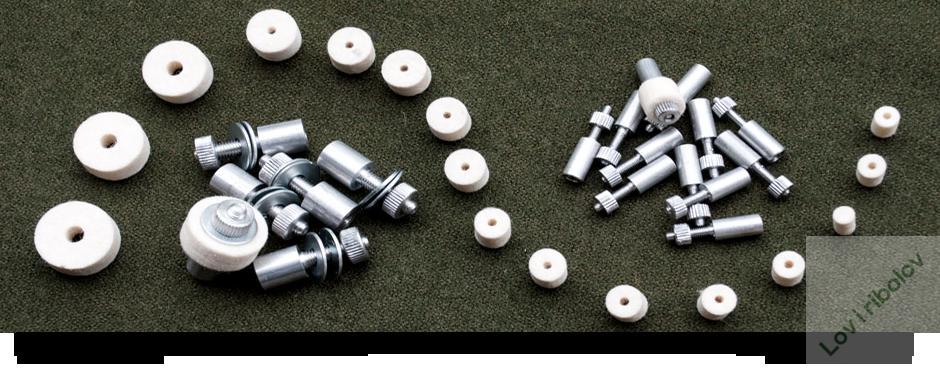 Filcani tamponi za čišćenje oružja kal.8mm 50kom.