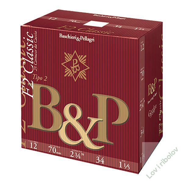 Lovački patron B&P F2 Classic 12/70 34gr