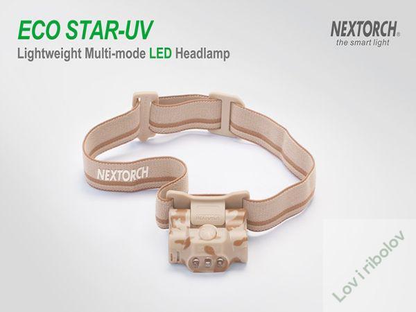 Čeona lampa Nextorch Eco star UV camo