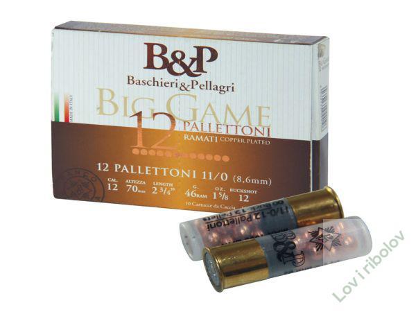 Lovacki patron B&P 12 pallettoni 12/70 46gr