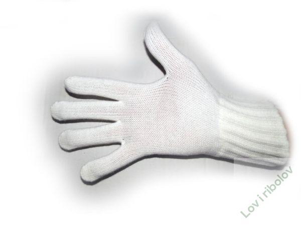Rukavice pletene bele