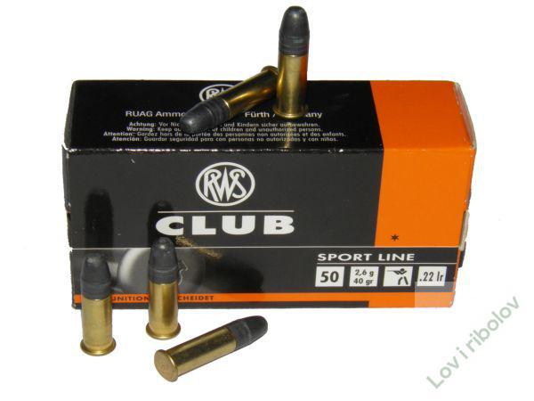 Mlokalibarski metak RWS Club 2,6gr .22lr