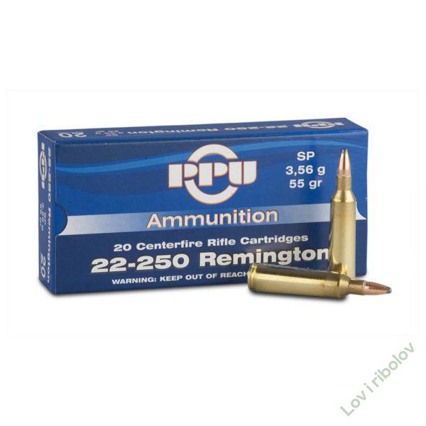 Karabinski metak PPU 22-250 Remington SP 3,56gr