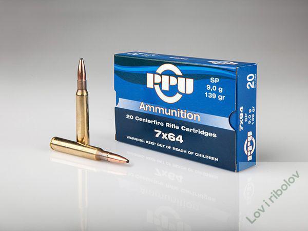 Karabinski metak PPU 7x64 SP 11,2gr /9,1gr