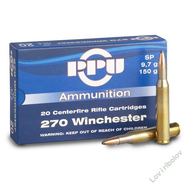 Karabinski metak PPU .270 Winchester SP 9,7gr