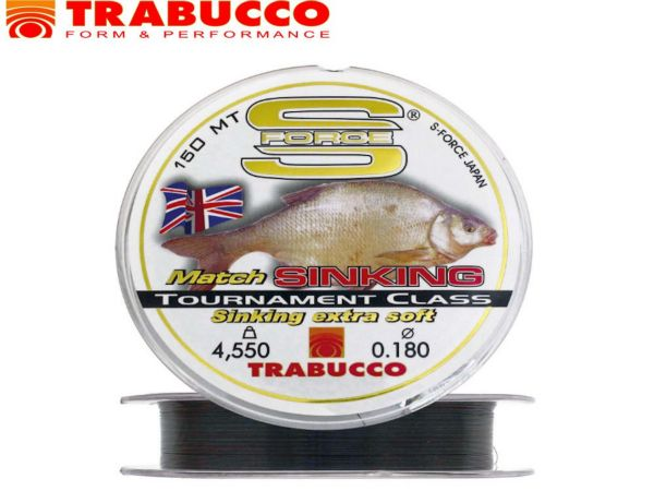 Trabucco S-force match sinking extra soft 150m/0,20mm