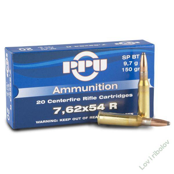 Karabinski metak PPU 7,62x54R SP 11,7gr