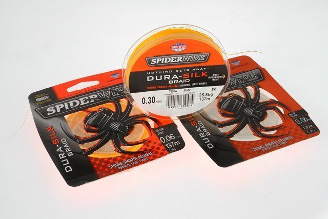 Spiderwire Dura silk braid yellow 300m/30lb