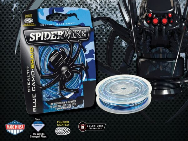 Spiderwire Blue camo braid 300m/15lb