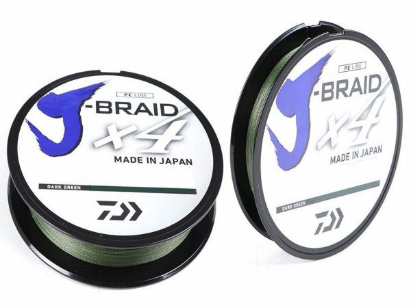 Daiwa J-braid x4 135m/0,19mm dark green