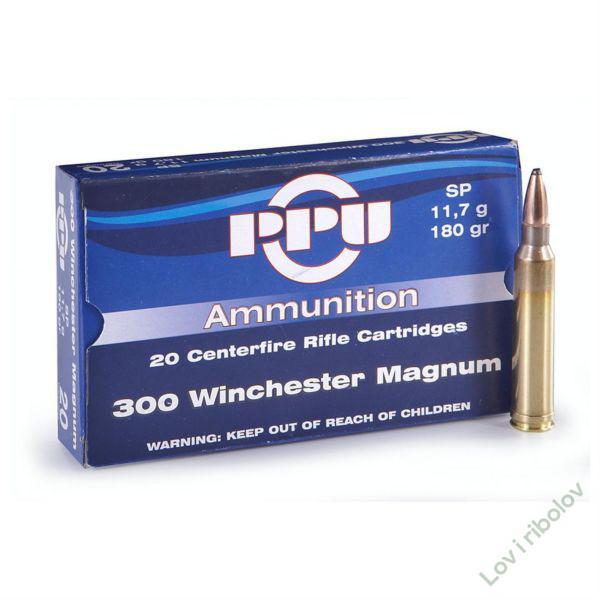 Karabinski metak PPU .300 Winchester Magnum SP 11,7gr