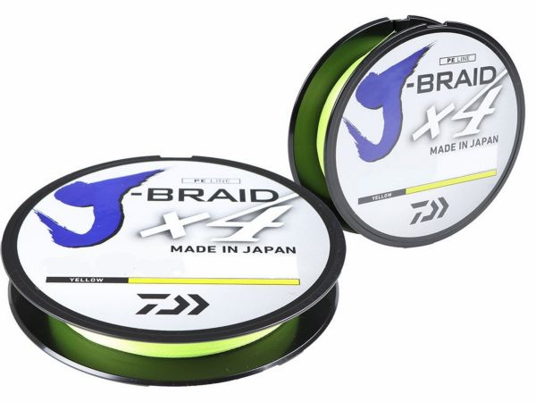 Daiwa J-braid x4 135m/0,15mm yellow