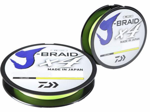 Daiwa J-braid x4 135m/0,25mm yellow