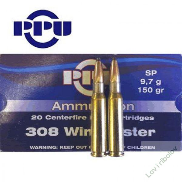 Karabinski metak PPU .308 Winchester SP 9,7gr