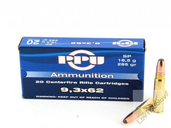 Karabinski metak PPU 9,3x62 SP 18,5gr