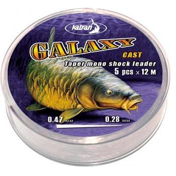 Katran Galaxy shock leader 5pcs x 12m konus 0,47mm-0,26mm