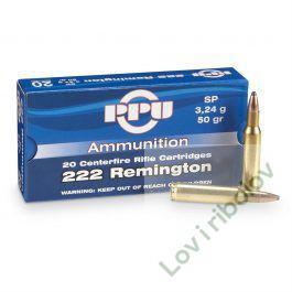 Karabinski metak PPU .222 Remington 3,24gr