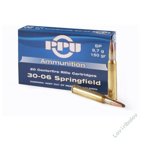 Karabinski metak PPU .30-06 Springfield 9,7gr/11,7gr