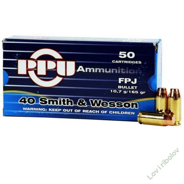 Pištoljski metak PPU .40 Smith&Wesson 12,3gr FPJ