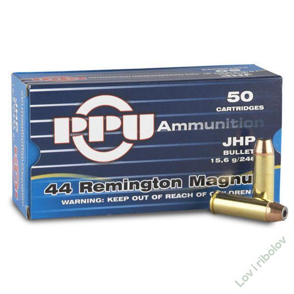 Revolverski metak PPU .44 Remington Magnum JHP 11,7gr