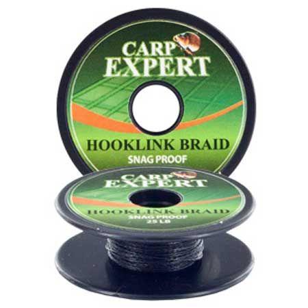 Carp Expert hooklink braid snag proof mud brown 25lb/10m