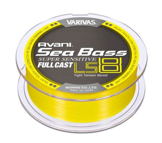 Varivas Sea bass PEx8 sensitive fullcast 200m 0,185mm