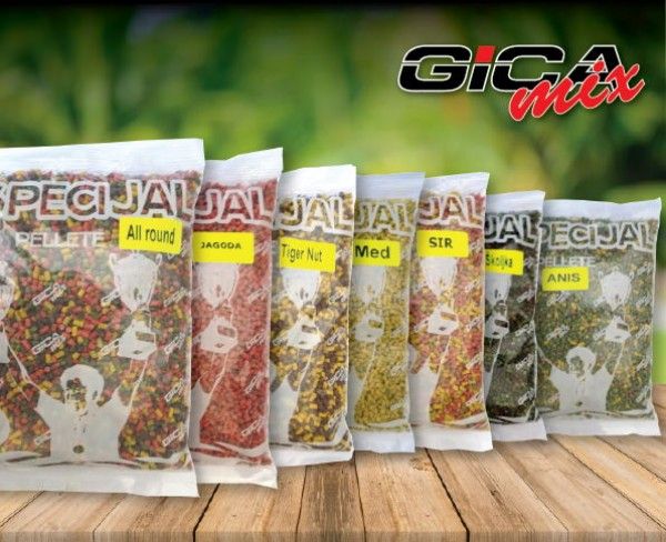 Gica mix peleti 1kg 4mm