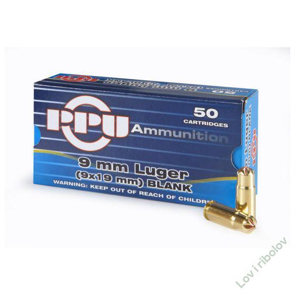 Manevarski metak PPU 9mm Luger (9x19mm) blank