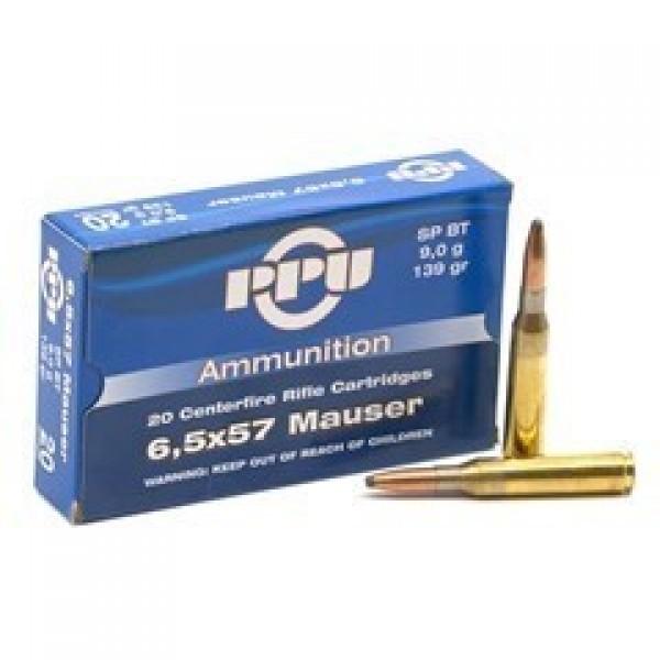 Karabinski metak PPU 6,5x57 Mauser 9gr