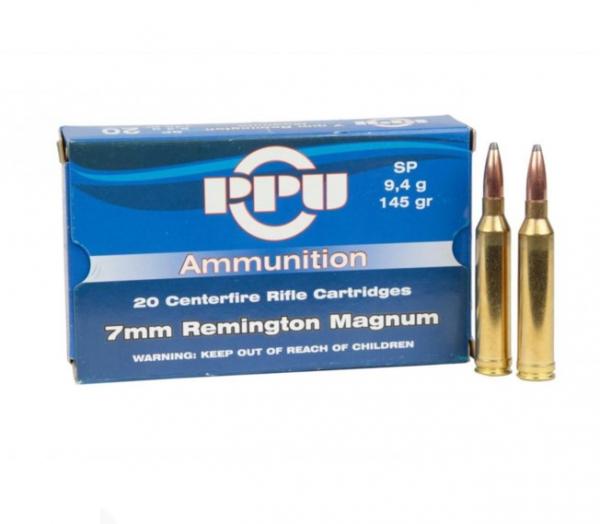 Karabinski metak PPU 7mm Remington Magnum 9,4gr