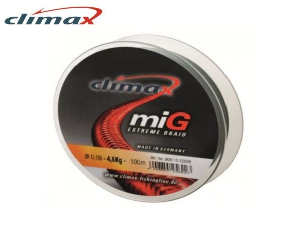 Climax MIG extreme braid 100m green