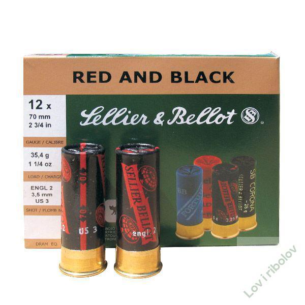 Lovački patron Sellier&Bellot Red&Black 12/70  8,43mm(PP)