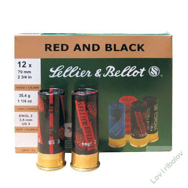 lovački patron Sellier&Bellot  Red&Black