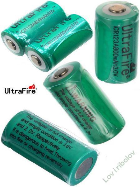 Baterija-punjiva UltraFire ICR 123A 3V 800mAh